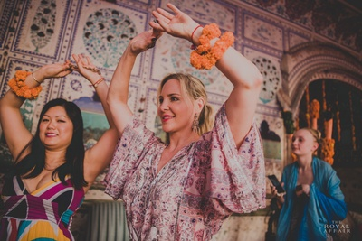 Famous celebrity makeup artist, Carmindy Bowyer at the mehendi ceremony.