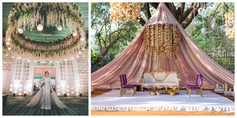 #trending- Floral Chandeliers are the new eye-catchers in wedding decor this season!