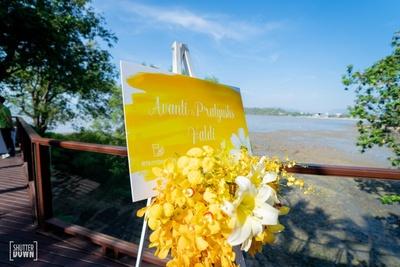 creative sign boards at the haldi ceremony