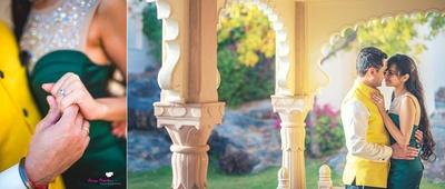Sahil and Saara pre wedding held at The Lalit Golf & Spa Resort Goa