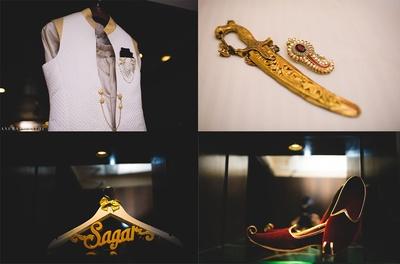 Groom's accessories for the wedding held in Baroda.