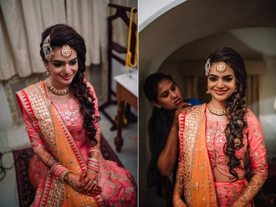 Our gorgeous bride Reham getting ready for her sangeet dance performance!