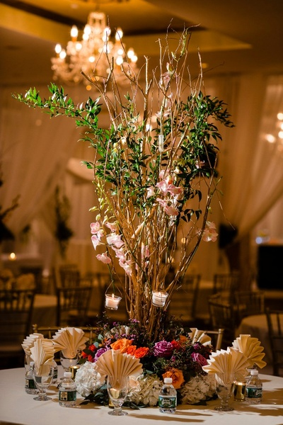 rustic table decor ideas for the mehndi ceremony