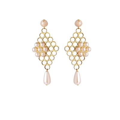 Gold Jaali Earrings