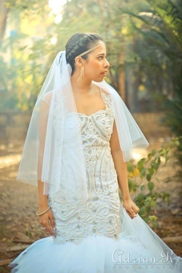 Mermaid-Cut Wedding Gown