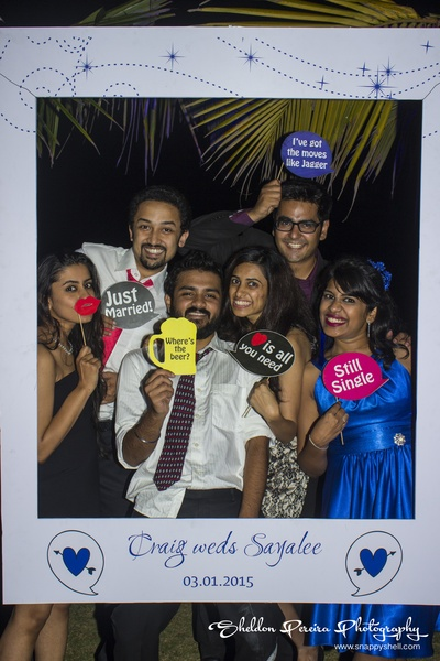 Fun photobooth and props used at the wedding reception