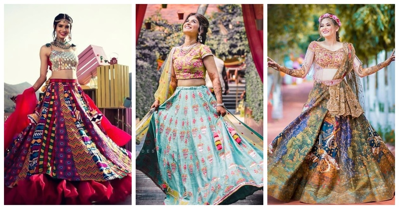 10 brides who left us awestruck with their stunning multicolored lehengas!