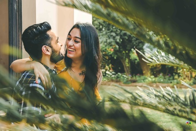 Pre wedding photoshoot of the bride and groom by Nitin Arora Photography