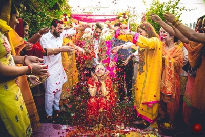 Mesmerising shot by ace photographer Abhinav for Art Capture of the haldi ceremony