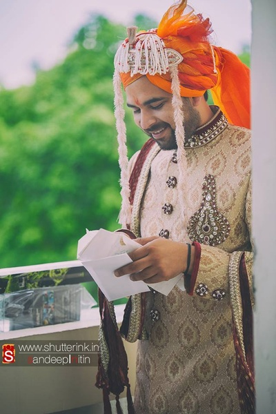 A letter of promise, right before the wedding ceremony, nailing it the with primitive ways