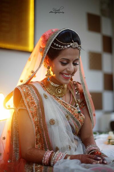 Gorgeous bride Shobhika on her wedding day.