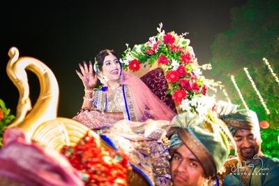Bridal entry for her wedding ceremony held at Radisson Blu, Alibaug.