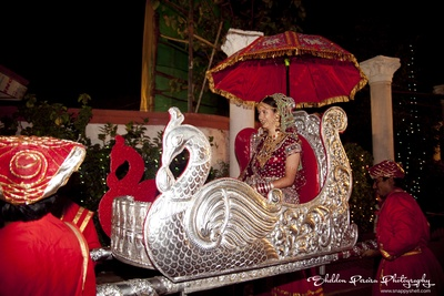Silver decorated Palki for the bridal entry