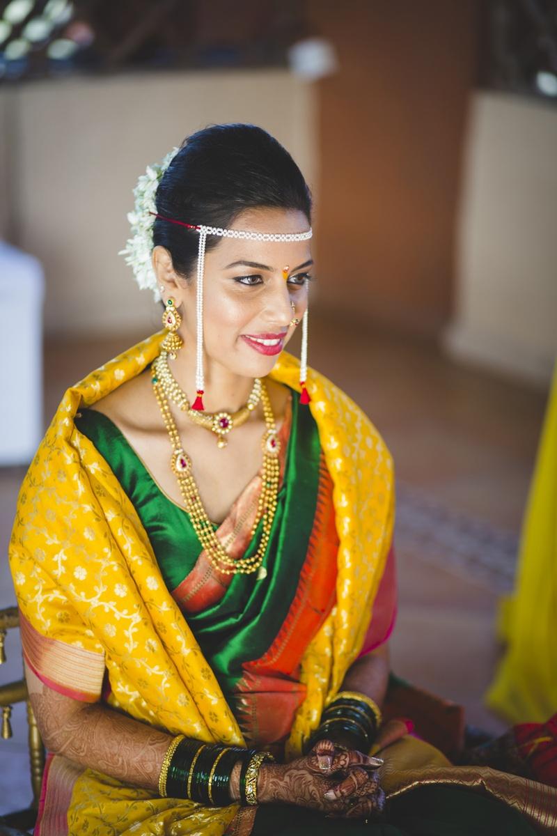 They First Had A Hindu Varmala Followed By A Maharashtrian Wedding