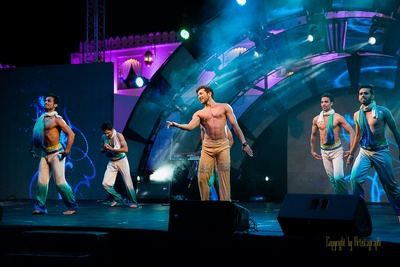 Ace dance choreographer Terence Lewis and his team  performing for the Sangeet ceremony