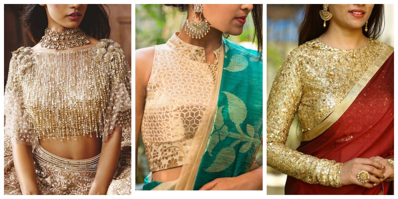 20 Golden Blouse Design Images That Will Complement Most Sarees In Your Closet Bridal Wear Wedding Blog