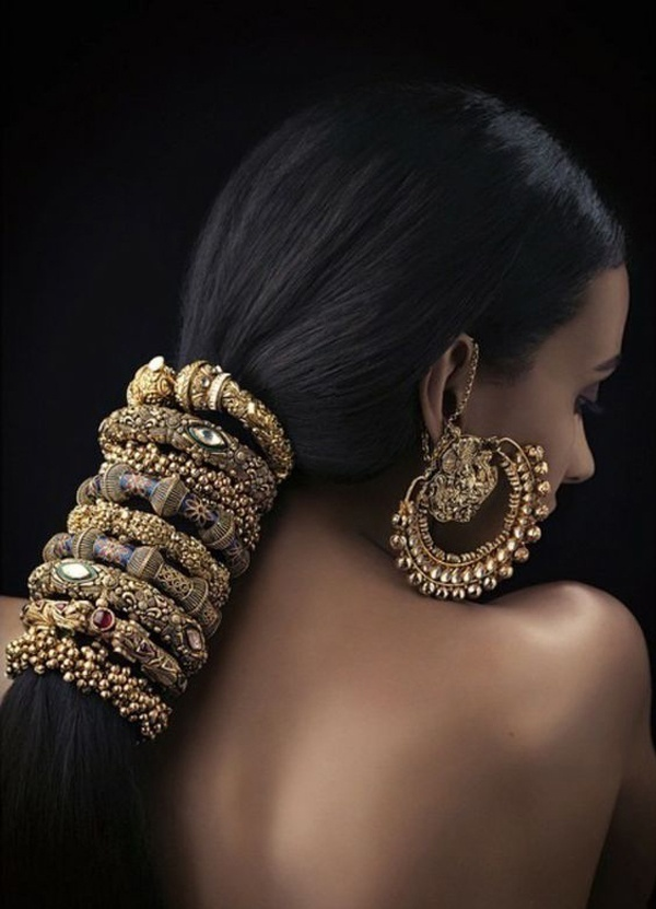 Chunky Bangles Could be Your New Hair Accessories