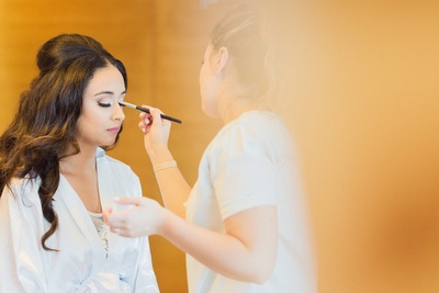 Bride Komal gets ready for the wedding ceremony