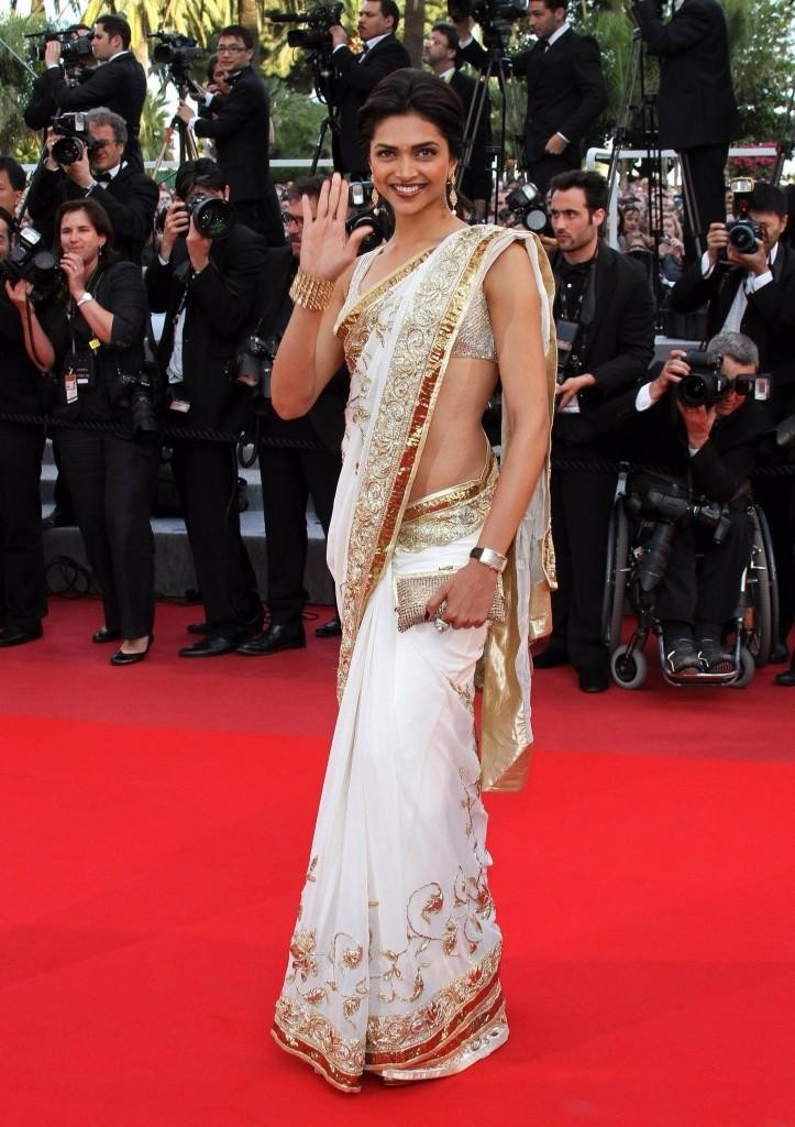 7. We had to include her Cannes look! You've got to include such a beautiful saree in your wardrobe!