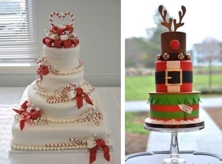 CHRISTMAS INSPIRED WINTER WEDDING CAKES