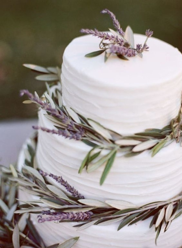 Divine as God's Own Creation - Green Wedding Cake Ideas