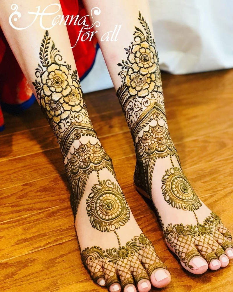 50+ leg mehndi design images to check out before your