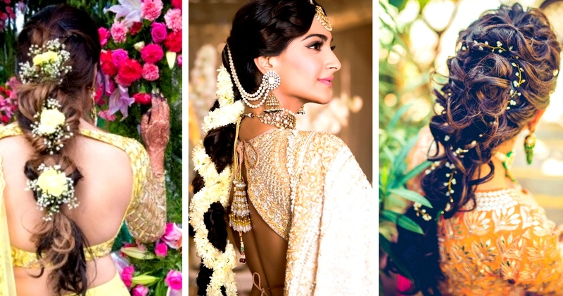 e75b3b6067 30 Best Indian bridal hairstyles trending this wedding season! - Blog