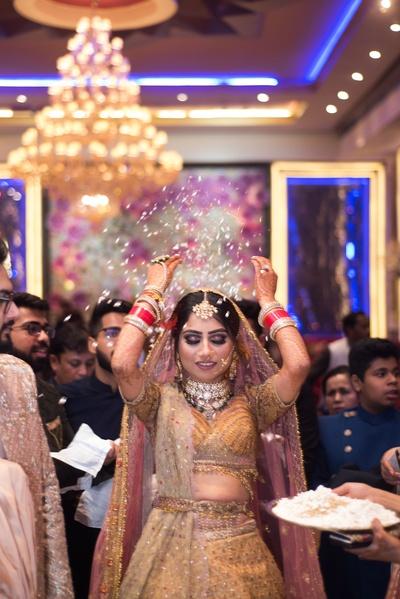 The bride during the vidaai ceremony.