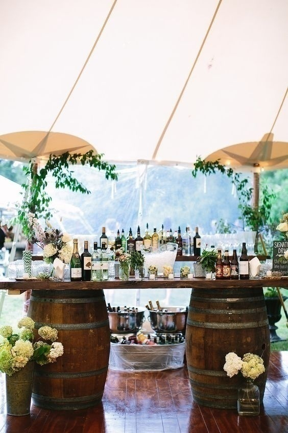 Make Outdoor Weddings 'Brewtiful' with this Wedding Reception bar Ideas