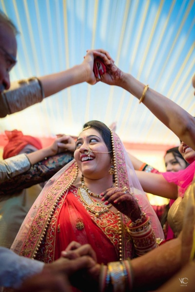 Candid bridal wedding celebratory photography