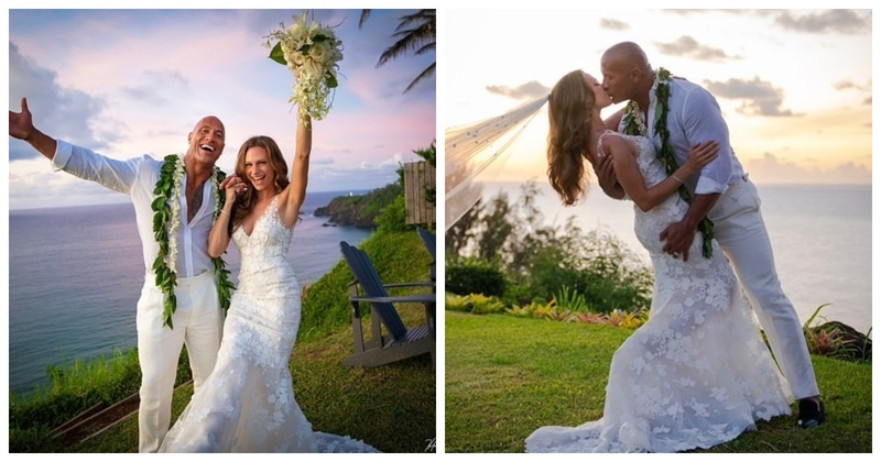 Attention Ladies The Rock Just Married his Sweetheart, Lauren Hashian!