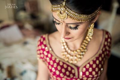 Bridal makeup by ace artist Oja Rajani