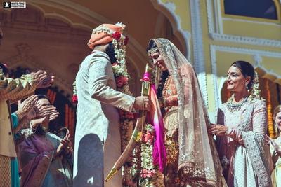 The royal varmala held at Samode palace, Jaipur.