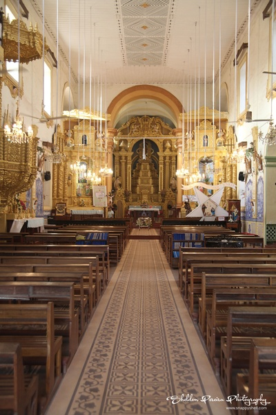 Intricately decorated interiors of the Church