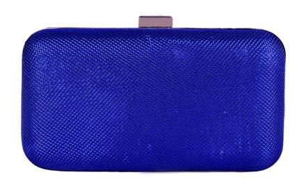 Ank Metallic Royal Blue Clutch