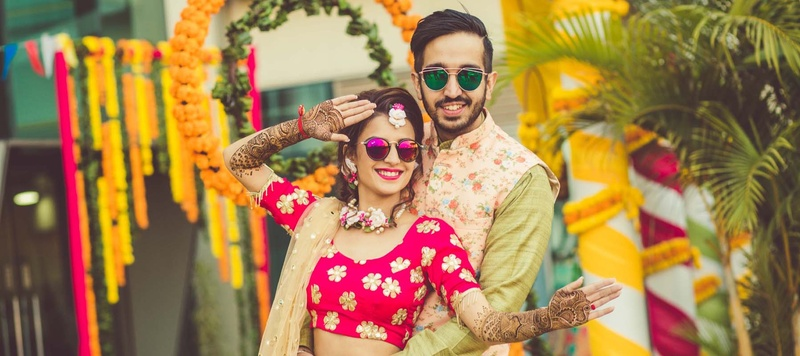 Rahul & Ritika Chandigarh : Ritika planned her wedding in  3 months & its full of fun, quirky photos & offbeat wedding outfits!