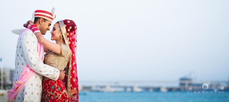 Rahul & Priyanka Dubai : An absolutely gorgeous couple, a perfect wedding by the beach followed by a crazy Reception night !