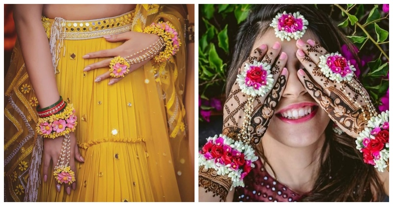 15 Prettiest Haath Phools that is a must-check for your mehendi and haldi ceremony