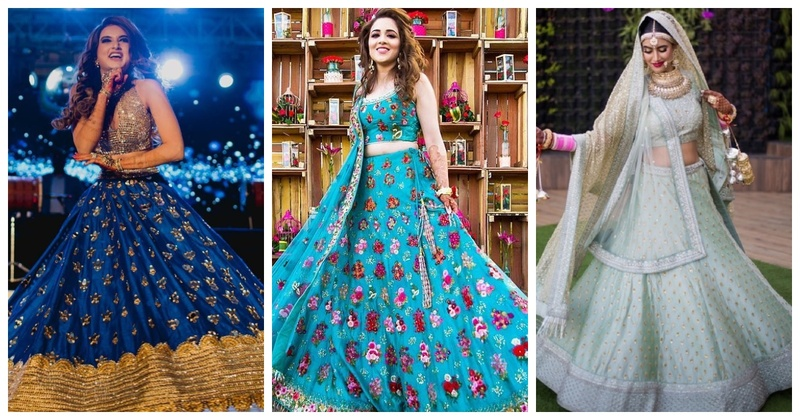Real brides who beat the blues with their stunning blue lehengas!