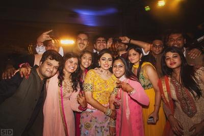 Post Sangeet ceremony fun picture.