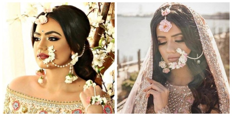 Floral naths for your Mehendi is the new trend in town!