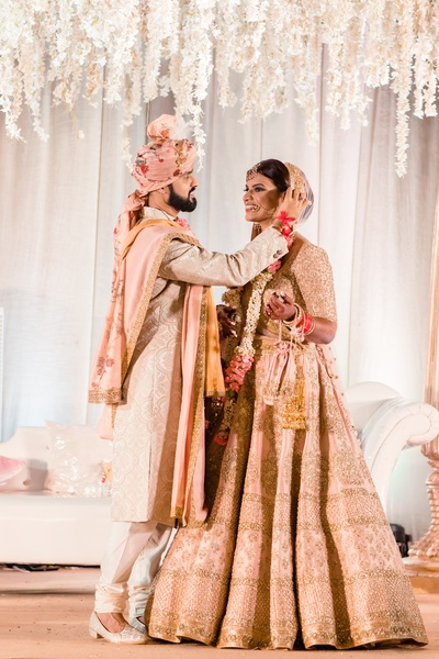 a beautiful click of the couple on their wedding day