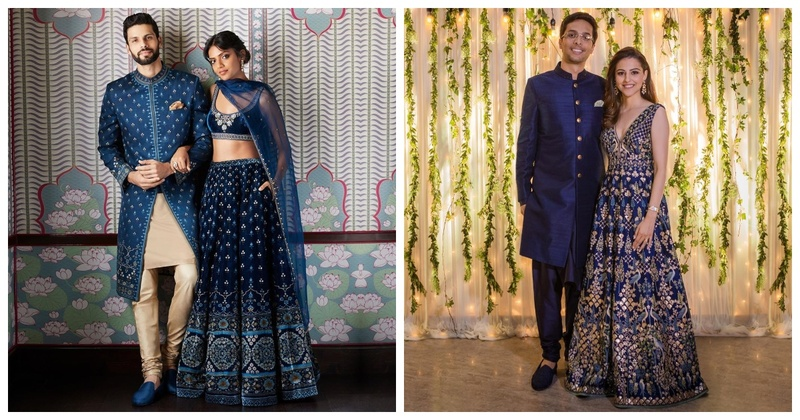 Navratri #Day5- Royal Blue Outfit Inspiration for Brides & Bridesmaids