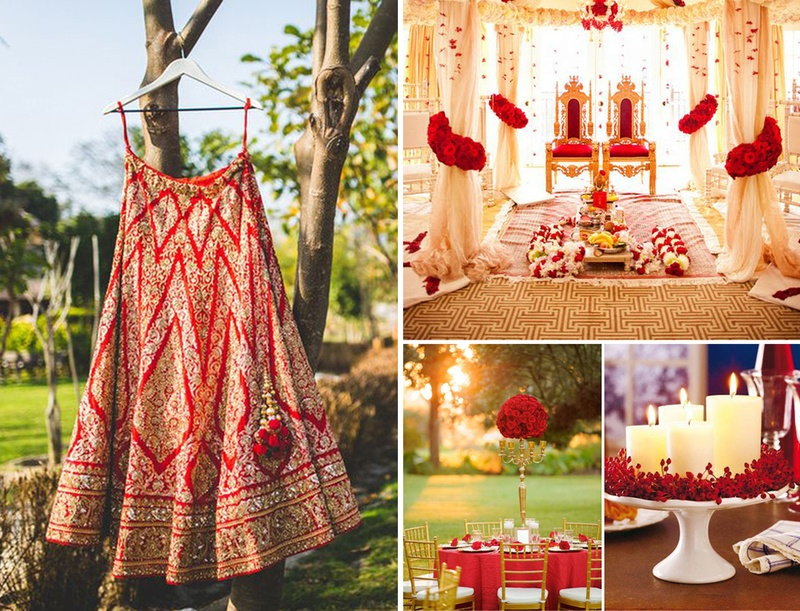 Trending Red, White and Gold Wedding Theme Ideas for 2016
