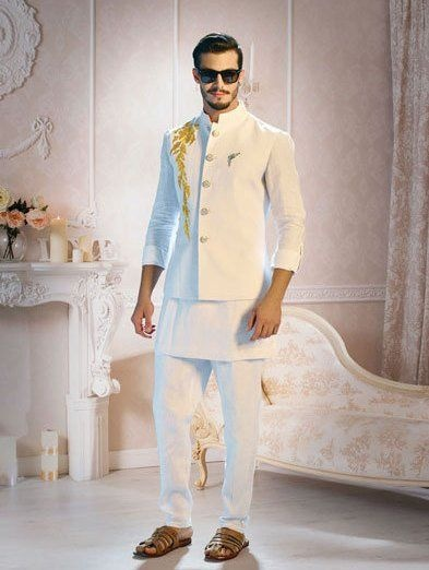 5ffc79ac8c This wedding dress for men right here is apt to wear for a pre-wedding  function like sangeet or mehndi party. The simplicity of this kurta-pyjama  and Nehru ...