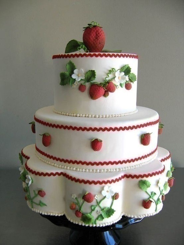 Fruitilicious: Fruit Wedding Cakes