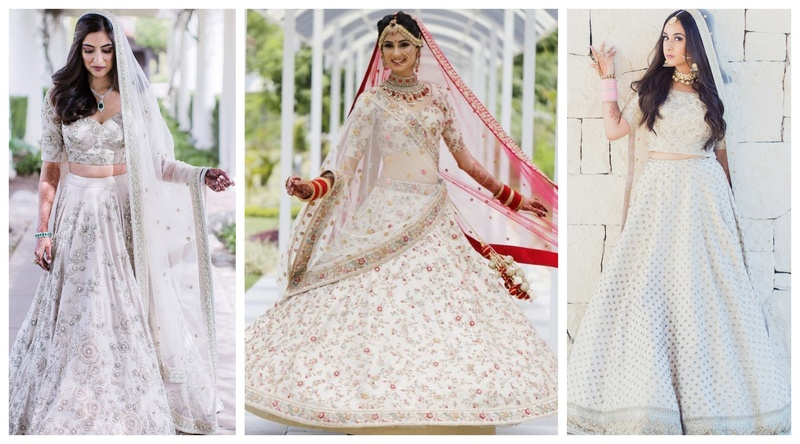 15 brides who wore a White Lehenga to their Indian Wedding and looked like a dream!