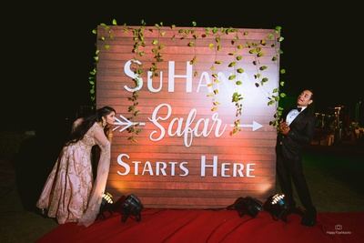 An innovative signange with the couple's name!