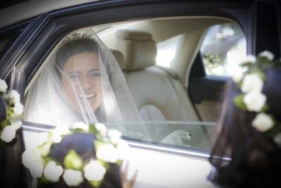A shimmery, transparent veil for that special touch