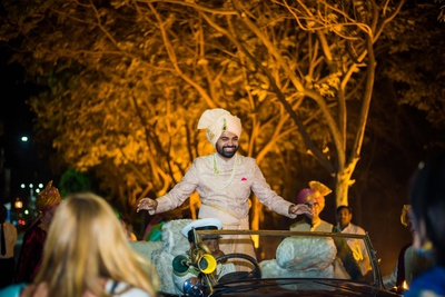 groom's grand entry to wedding ceremony